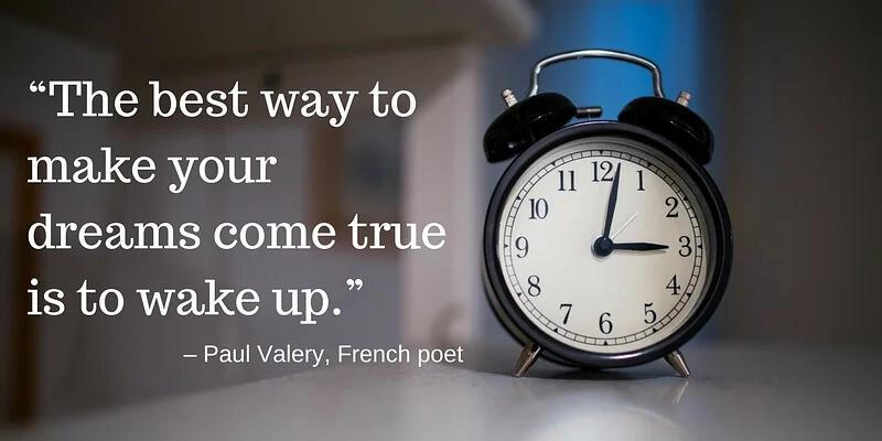 Wil jij je dromen waarmaken? Probeer de gewoonte van vroeg opstaan aan te leren! (afb.)
